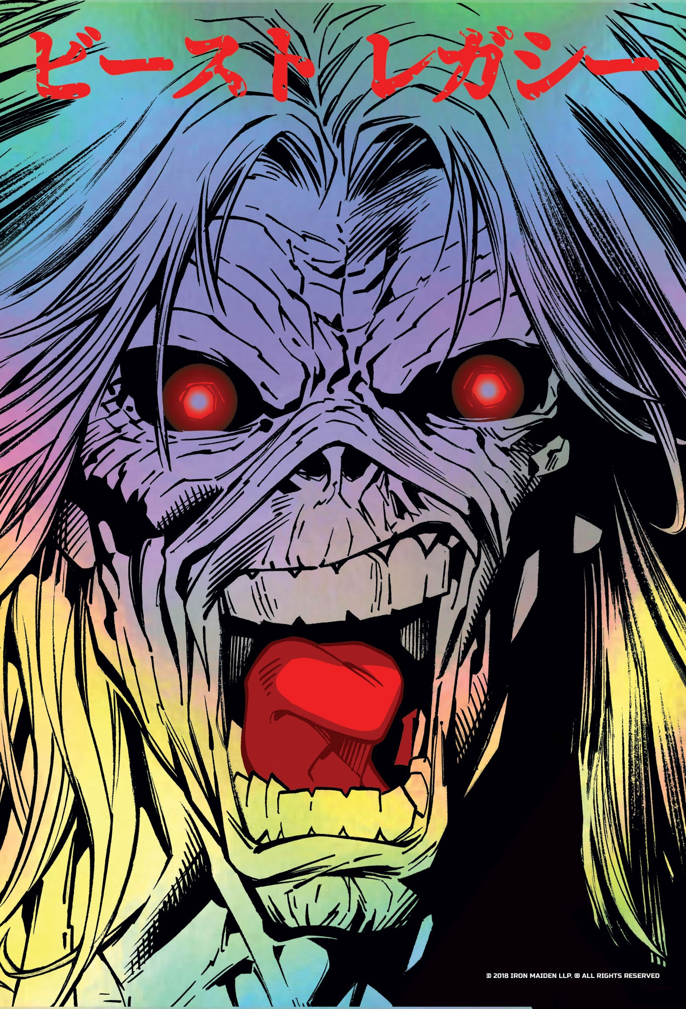 Iron Maiden Legacy of the Beast Halo Face Print (Rainbow Foil Variant)