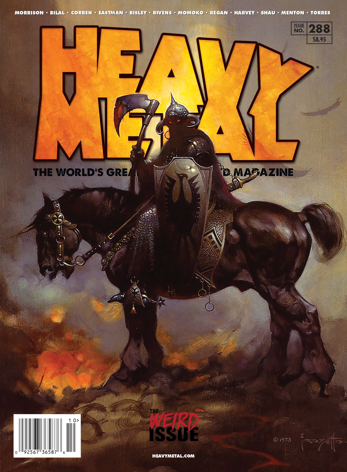 Issue #288 - Cover A - Frazetta