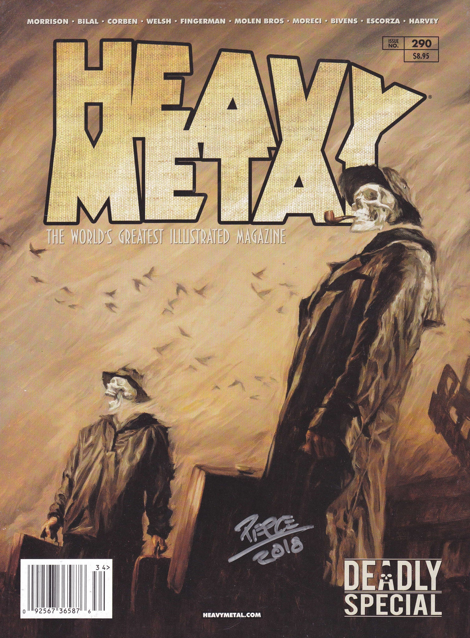 SIGNED Issue #290 Cover B - Shane Pierce (Signed by Shane Pierce)