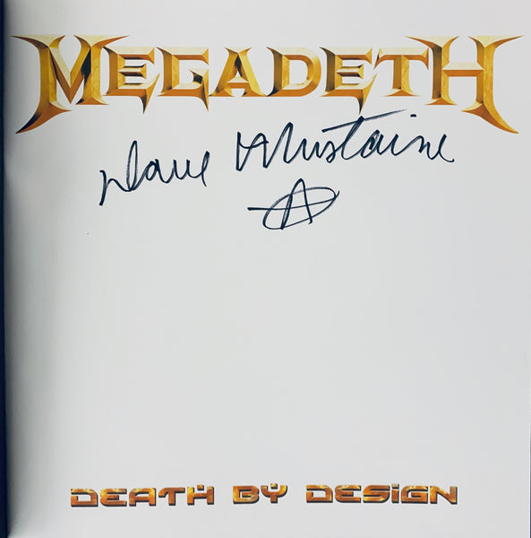 "Megadeth: Death By Design Graphic Novel w/ 4 coke bottle colored clear vinyl ""Warheads On Foreheads"" album set signed by Dave Mustaine"