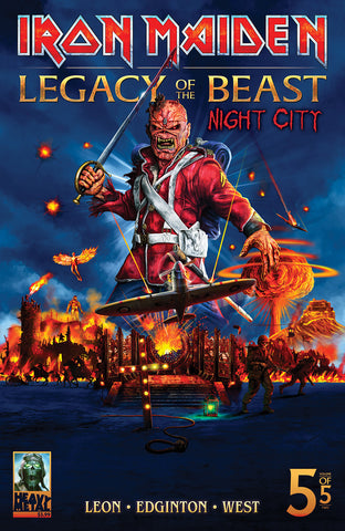 Iron Maiden Legacy of the Beast v2: Night City #5 Cvr B