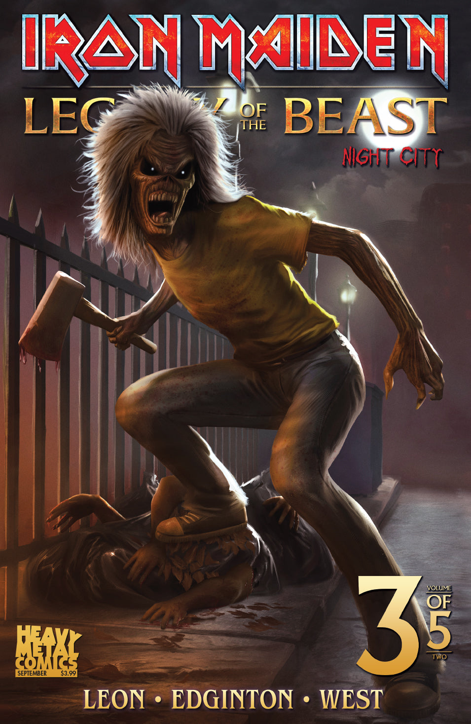Iron Maiden Legacy of the Beast Vol2 - Night City - Issue #3 - Cover C - Carlos Dattoli