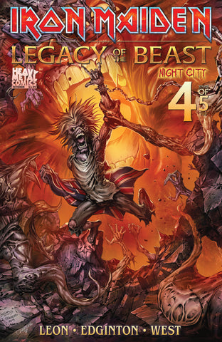 Iron Maiden Legacy of the Beast Vol2 - Night City - Issue #4 - Cover B - Simeon Aston, Friend & Cabrera