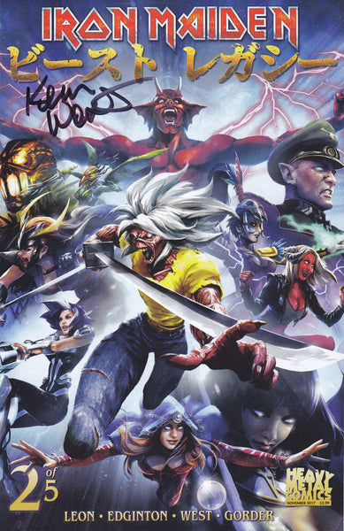 SIGNED Iron Maiden Legacy of the Beast - Issue #2 - Cover B (Signed by Kevin West)