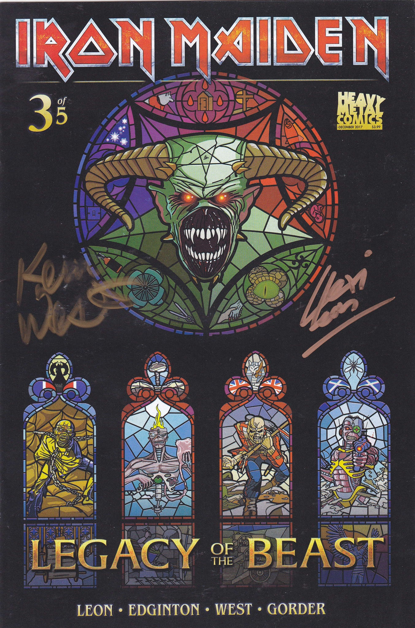 Iron Maiden Legacy of the Beast - Issue #3 - Cover B (Signed by Lexi Leon & Kevin West)