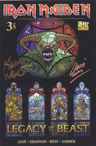 SIGNED Iron Maiden Legacy of the Beast - Issue #3 - Cover B (Signed by Lexi Leon & Kevin West)