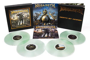 "Megadeth: Death By Design Graphic Novel w/ 4 clear vinyl ""Warheads On Foreheads"" album set signed by Full Band + 11 Artists (SDCC 2019)"