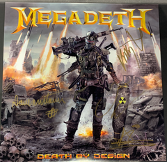 "SDCC + NYCC SIGNED Megadeth: Death By Design Graphic Novel w/ 4 clear vinyl ""Warheads On Foreheads"" album set signed by Full Band"
