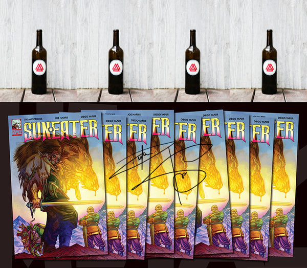 "SUNEATER All Issues SIGNED WITH Dylan's ""All-Wise Meadery"" 4 Pack of Mead Shipped Monthly to Your Door. Plus Nine Exclusive Behind the Scenes Videos of Dylan Reflecting, Reading and Discussing Topics from each Issue. SHIPPING NOW"