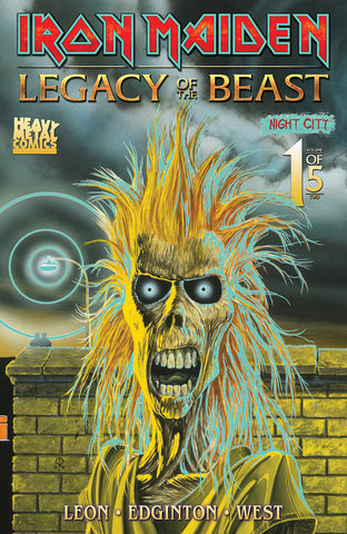 2019 San Diego Comic Con Exclusive Iron Maiden: Legacy of the Beast Night City #1 - Glow-In-The-Dark Cover