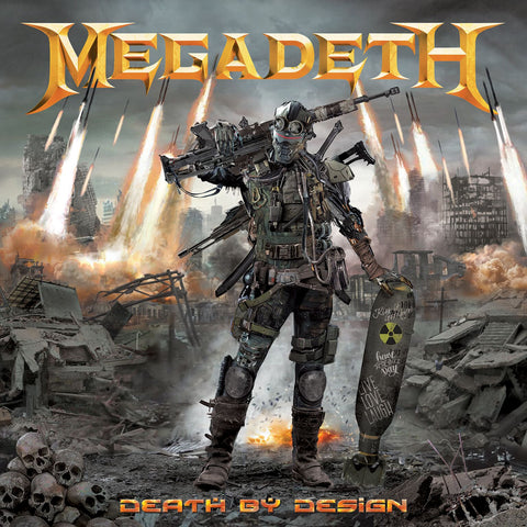 "Megadeth: Death By Design w/ 4 clear vinyl ""Warheads On Foreheads"" album set"