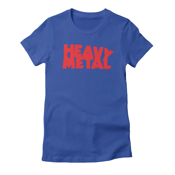 Heavy Metal Red Logo Women's T-Shirt Fitted