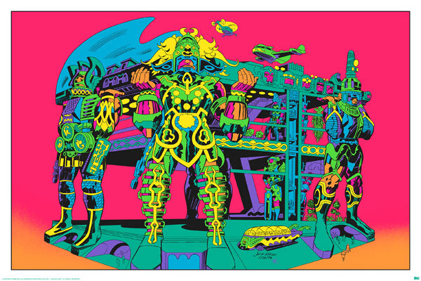 SIGNED Jack Kirby / Barry Geller - Lord of Light Blacklight Print - Terminal of the Gods