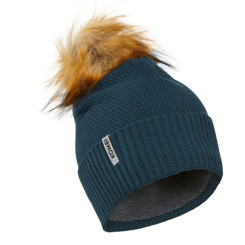 Tuque Stylish à pompon en fausse fourrure - Juniors