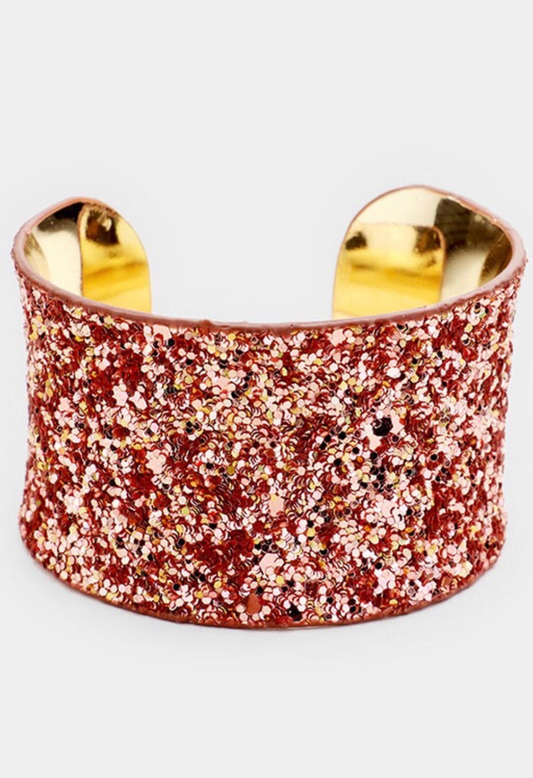 Sparkle Me Pretty Cuff - Rose Gold