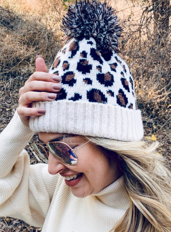 Ski Retreat Leopard Beanie