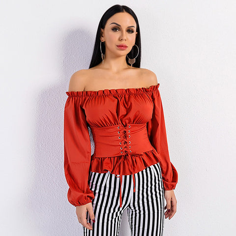 Giselle Off Shoulder Red