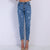 High Waist Pearl Studded Jeans - Boss Beauty Boutique