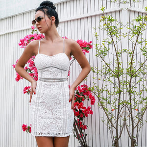 Good Vibes Dress White