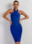 Julie Bandage Dress Blue