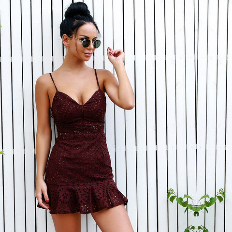 Cambridge Lace Dress Burgundy