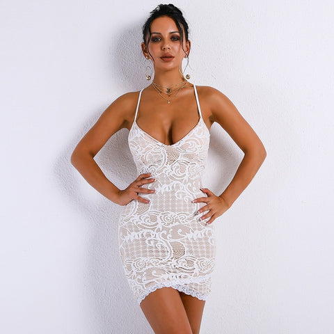 Downtown Mini Dress White