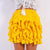 Kelsey Wave Ruffle Skirt Yellow - Boss Beauty Boutique