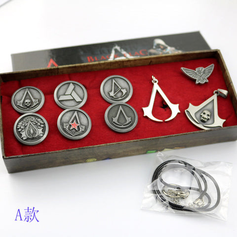Assassins Creed Necklace Brooch Rings Action Figures