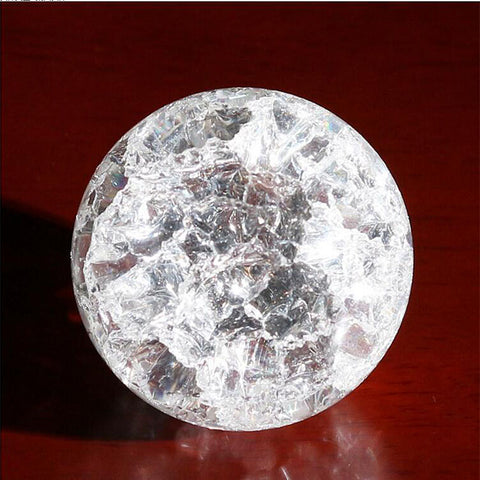 Crystal Ice Cracked Quartz Sphere