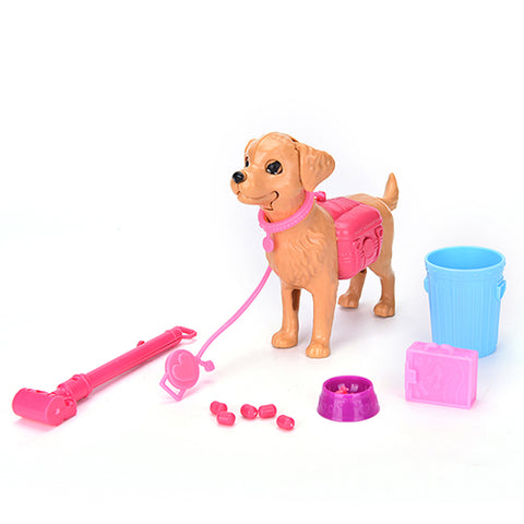 13pcs Set Dog, Feeding Bowl, and Toys for Barbie Doll