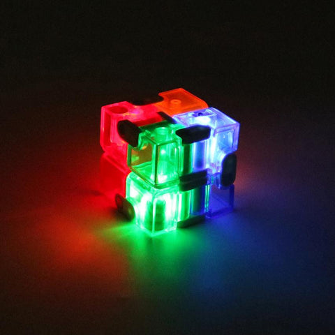 LED Infinity Anti-Stress Cube Fidget Spinner