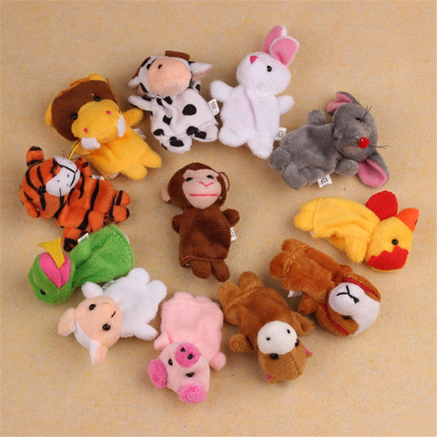 12 pcs Animal Hand Puppet Toys
