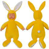 Plush Stuffed Baby In Rabbit Doll