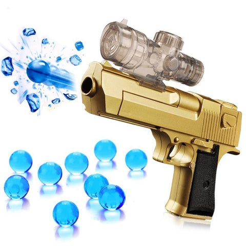 Toy Watergun with Absorbing Bullets