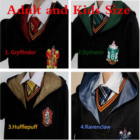 Harry Potter Series Griffindor Cosplay Costumes Cloaks