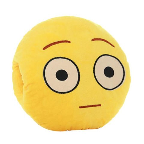 Puzzled Face Emoji Cushion Pillow