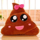 Baby Dreamy Eyed Smiley Poo Emoji Cushion Pillow