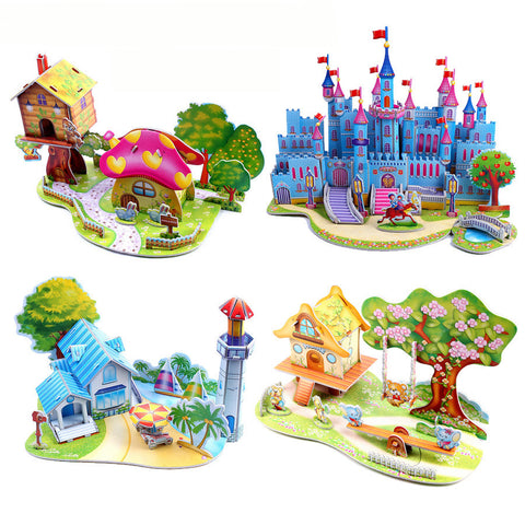 3D Jigsaw Puzzle Learning Baby Toys