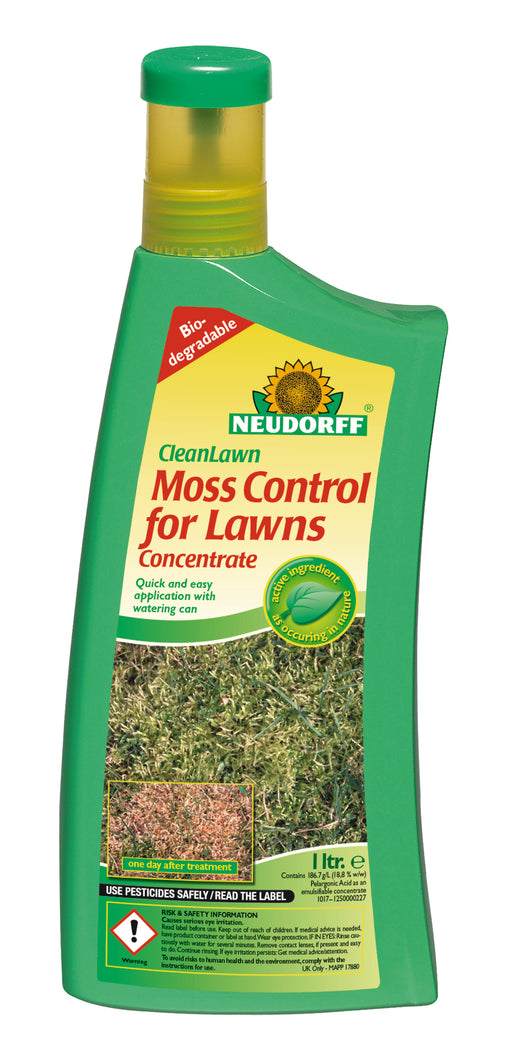 Neudorff CleanLawn Moss Control for Lawns Concentrate 1 ltr
