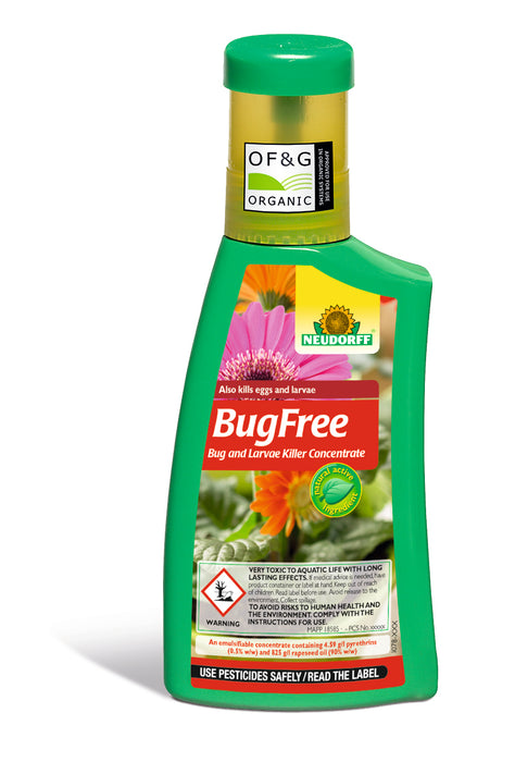Neudorff BugFree Bug and Larvae Killer Concentrate 250 ml