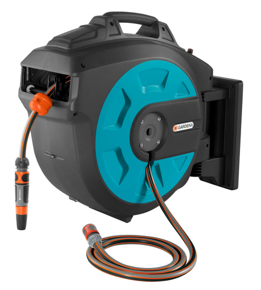 Gardena Comfort Wall-Mounted Hose Box 25 Roll Up Automatic - Mincost