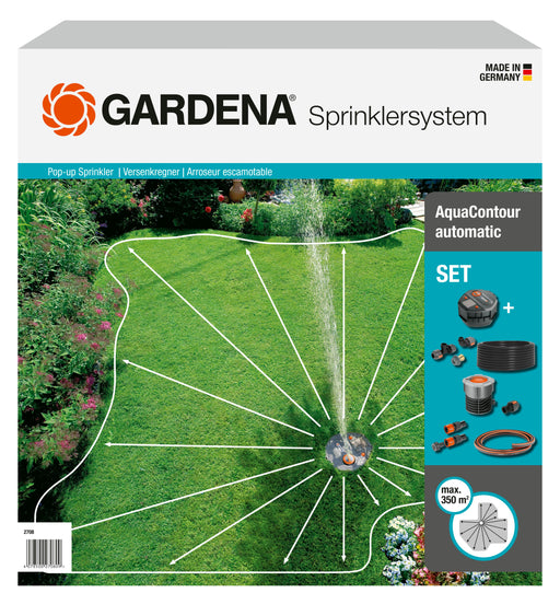 Gardena Complete Set with Large Area Pop-up Irrigation AquaContour automatic - Mincost