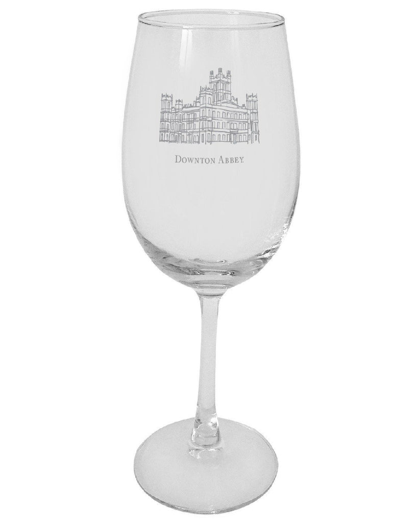 Downton Abbey Castle Wine Glass