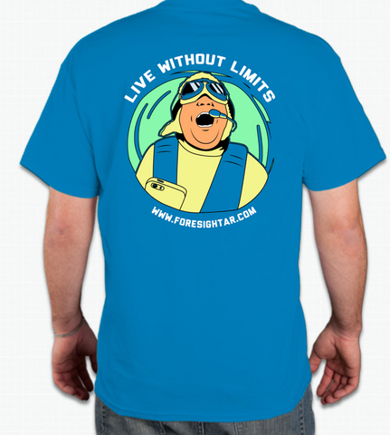Live Without Limits T-Shirt (Men's Blue)