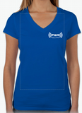 Live Without Limits V-Neck T-Shirt (Women's Blue)