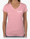 Live Without Limits V-Neck T-Shirt (Women's Pink)