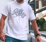 Cool Gray Logo White Tee