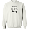 This Girl Is Happy BW Unisex Sweatshirt