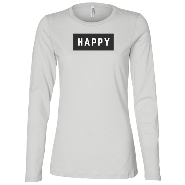 Happy Black and Whites Ladies' Long Sleeve T-Shirt