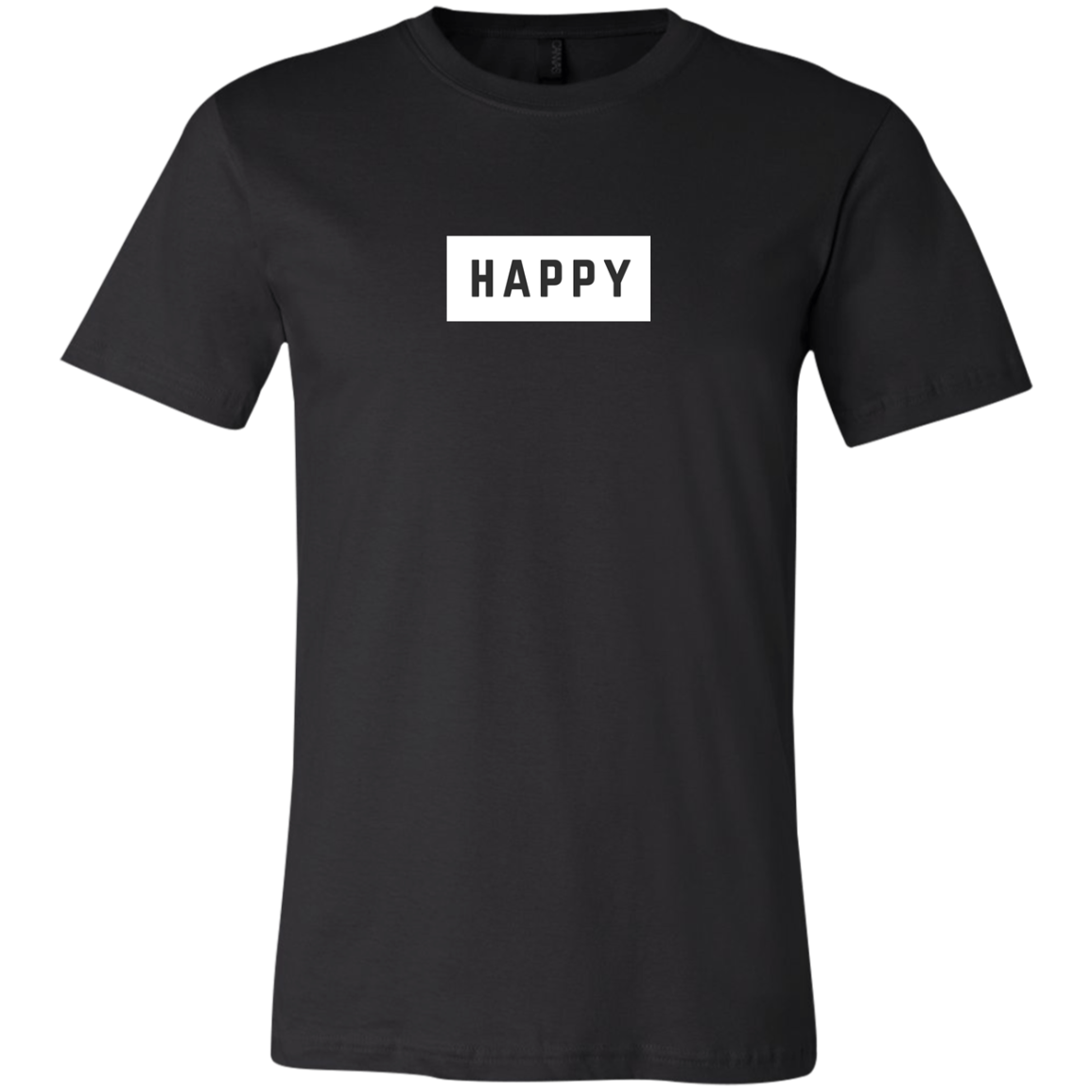 Happy Black and White Unisex Jersey Short-Sleeve T-Shirt